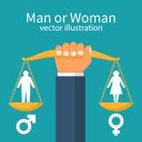Concepto de la igualdad de género ilustración del vector