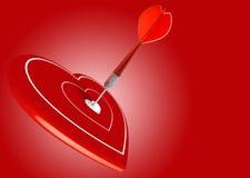 Concepto de la ilustración del amor, día de tarjeta del día de San Valentín Imagen de archivo libre de regalías