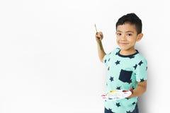 Concepto de la imaginación creativa del niño del niño de las ilustraciones del muchacho Fotografía de archivo libre de regalías