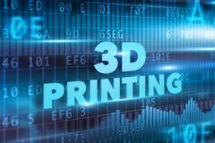 concepto de la impresión 3D Foto de archivo libre de regalías