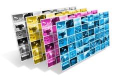 Concepto de la impresión de CMYK Imagen de archivo