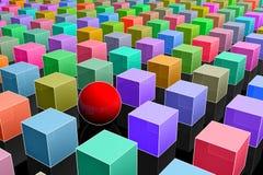 Concepto de la individualidad. 3d coloristic. Foto de archivo libre de regalías