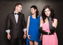Concepto de la infidelidad marital Fotos de archivo libres de regalías