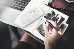 Concepto de la información de datos de la comunicación del correo electrónico foto de archivo