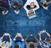 Concepto de la información de Internet de la comunicación de la conexión de la tecnología fotografía de archivo