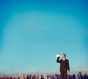 Concepto de la información de Person Announcement del negocio Imagen de archivo