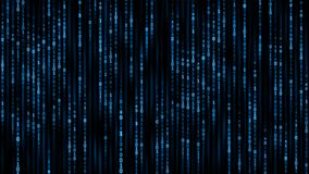 Concepto de la información de Digitaces - fondo del código del binare ilustración del vector