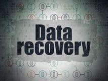 Concepto de la información: Recuperación de los datos en digital Fotografía de archivo