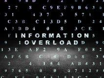 Concepto de la información: Sobrecarga de información adentro Imágenes de archivo libres de regalías