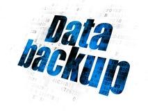 Concepto de la información: Copia de seguridad de datos en Digitaces Foto de archivo