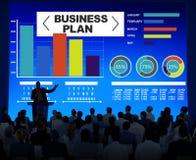 Concepto de la información de la idea de la estrategia de la reunión de reflexión del gráfico del plan empresarial Imagen de archivo