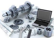 Concepto de la ingeniería industrial Imagen de archivo