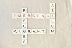 Concepto de la inmigración, del refugiado y del asilo imagen de archivo libre de regalías