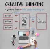 Concepto de la innovación de las ideas del pensamiento creativo foto de archivo