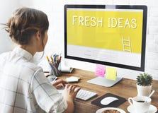 Concepto de la innovación del diseño de la creatividad de las ideas frescas fotografía de archivo