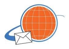 Concepto de la insignia del correo - vector stock de ilustración