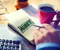 Concepto de la inspección de las finanzas de la contabilidad de la contabilidad de la auditoría Imagen de archivo libre de regalías
