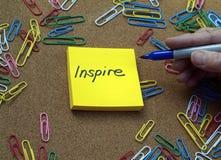 Concepto de la inspiración Fotografía de archivo libre de regalías
