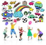 Concepto de la inspiración de la actividad de la creatividad de la diversión de Immagination de la afición Imagen de archivo libre de regalías