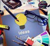 Concepto de la inspiración de la aspiración de la innovación del conocimiento de las ideas fotografía de archivo