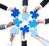 Concepto de la inspiración de la discusión de la reunión del trabajo en equipo del negocio fotografía de archivo libre de regalías