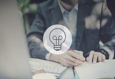 Concepto de la inspiración del planeamiento de la creatividad de la estrategia de pensamiento de las ideas imagen de archivo