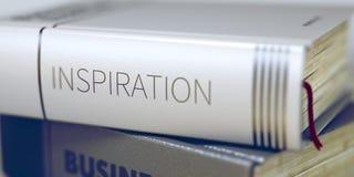 Concepto de la inspiración en título del libro 3d fotos de archivo libres de regalías