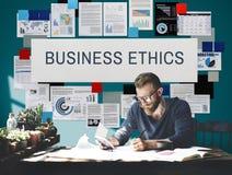 Concepto de la integridad de la honradez de la ética empresarial fotos de archivo