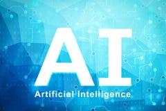 Concepto de la inteligencia artificial ilustración del vector