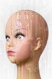 Concepto de la inteligencia artificial Foto de archivo