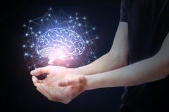 Concepto de la inteligencia artificial imágenes de archivo libres de regalías