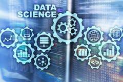 Concepto de la inteligencia artificial de la ciencia de los datos Fondo futurista del superordenador imagenes de archivo