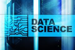 Concepto de la inteligencia artificial de la ciencia de los datos Fondo futurista del superordenador ilustración del vector