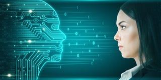 Concepto de la inteligencia artificial y de la innovación fotos de archivo