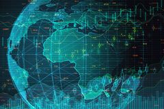 Concepto de la inteligencia artificial y de las finanzas imagen de archivo libre de regalías