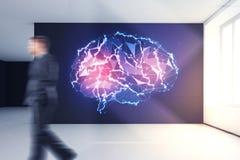 Concepto de la inteligencia artificial y de la mente imágenes de archivo libres de regalías