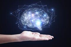 Concepto de la inteligencia artificial y de la red fotografía de archivo