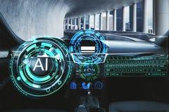 Concepto de la inteligencia artificial y de la tecnología imágenes de archivo libres de regalías