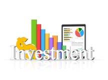 concepto de la inversión 3d Fotografía de archivo