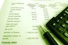 Concepto de la inversión, informe anual de los tenedores de parte Imagenes de archivo