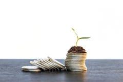 Concepto de la inversión, mercado de acción del gráfico de las monedas Foto de archivo
