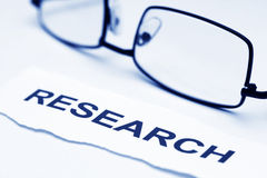 Concepto de la investigación Imagen de archivo libre de regalías