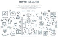 Concepto de la investigación y del análisis Foto de archivo