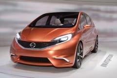 Concepto de la invitación de Nissan - demostración de motor de Ginebra 2012 Fotografía de archivo libre de regalías