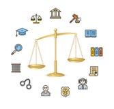 Concepto de la justicia Vector Foto de archivo