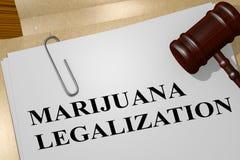 Concepto de la legalización de la marijuana ilustración del vector