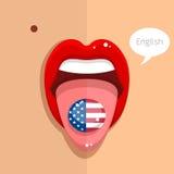 Concepto de la lengua inglesa Fotos de archivo