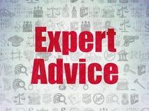 Concepto de la ley: Asesoramiento de experto sobre el papel de Digitaces Fotografía de archivo libre de regalías