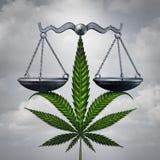 Concepto de la ley de la marijuana stock de ilustración