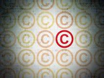 Concepto de la ley: icono de los derechos reservados en el papel de Digitaces Fotos de archivo